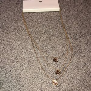 Gold three layered necklace